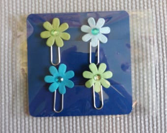 Big Paper Flower Paper Clips / Line Markers
