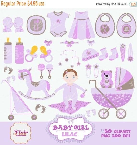 80 Rabatt Baby Mädchen Digitale Clipart Flieder Etsy