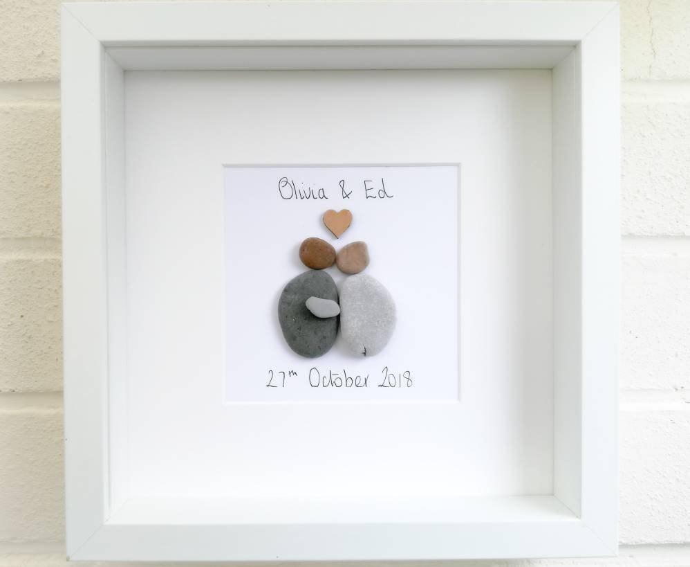 kiesel bilder pebble art hochzeit geschenk braut und. Black Bedroom Furniture Sets. Home Design Ideas