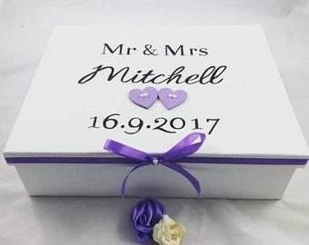 Wedding keepsake box, Wedding box, Personalised gift box, Wedding gift,  anniversary gift, keepsake box, photos storage, personalised gifts