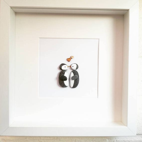 Penguin Pebble Frame