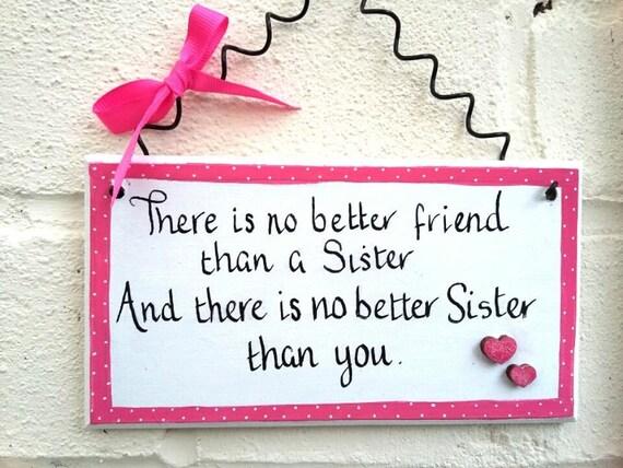Sister Gift Big Sister Gift Handmade Gift Wood Sign Wall Decor Etsy