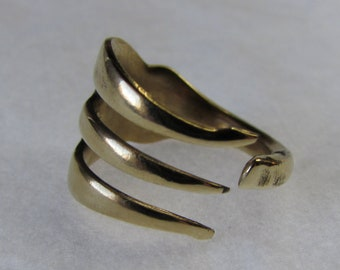 Gold Fork Ring. Century's Old recycled Copper and Aluminum. HE Edwards