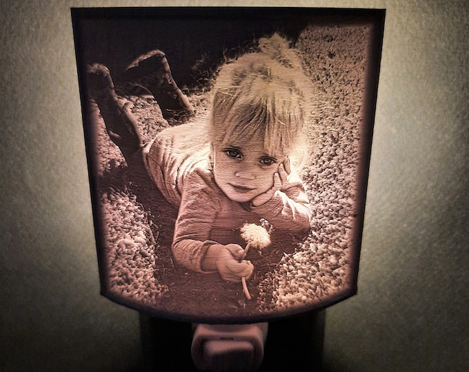 Personalized Photo Night Light, 3D Printed Lithophane