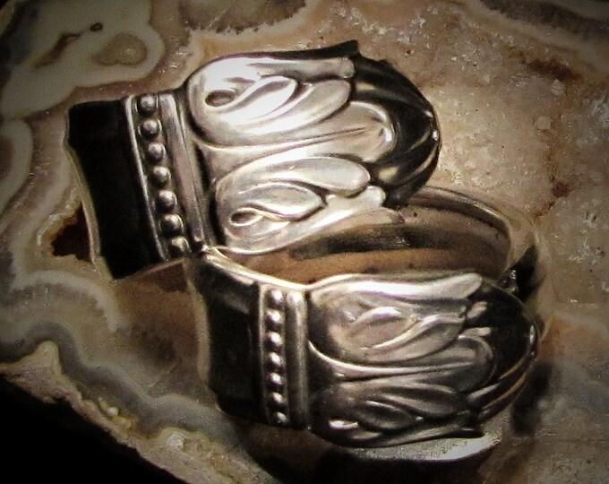 Spoon Ring Set 'Danish Princess' rings. Best Friends rings, Couples rings. Sister rings. Promise rings. Tulip flower spoon ring.