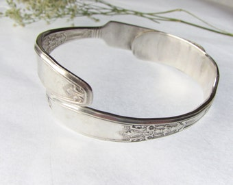 Silverware Cuff. Made from two antique silver plate knives.