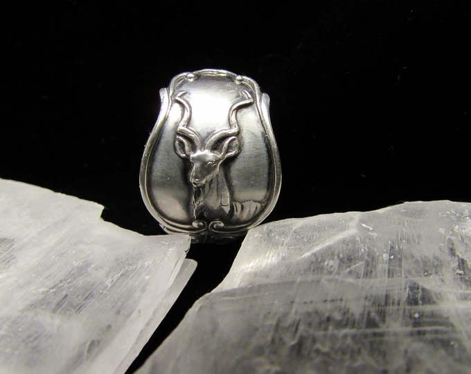 Spoon ring.Sterling South African spoon ring. 'Antelope' .