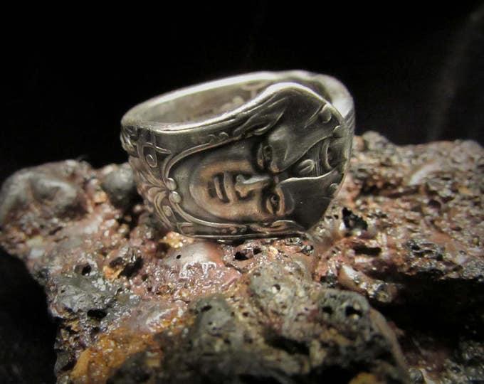 spoon ring. 1886 Reed and Barton  'Renaissance' pattern .