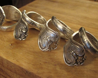 U.S. State Spoon ring. Silverwear ring. Your Choice of state .Rings made from collector state spoons. Spiral design.  MI,KS, NM & more