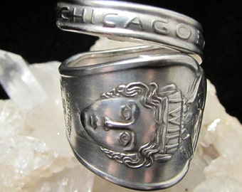 spoon ring.'I WILL' 1933 Chicago World Fair silver plate spoon. Spoon rings have centuries of history. Start yours...