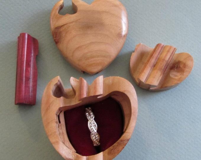 Ring Box, Engagement Ring Box, Wedding Ring Box, Puzzle Box