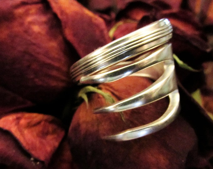 Fork ring.  Three tine Fork ring. Ring made from a vintage silver fork.