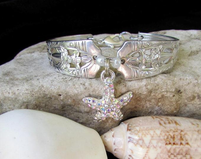 Bracelet,  Silver spoon Jewelry, Silverware  bracelet. Size 5.-6.