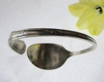 spoon cuff. Antique Wm Rogers spoon. Silverware bracelet.