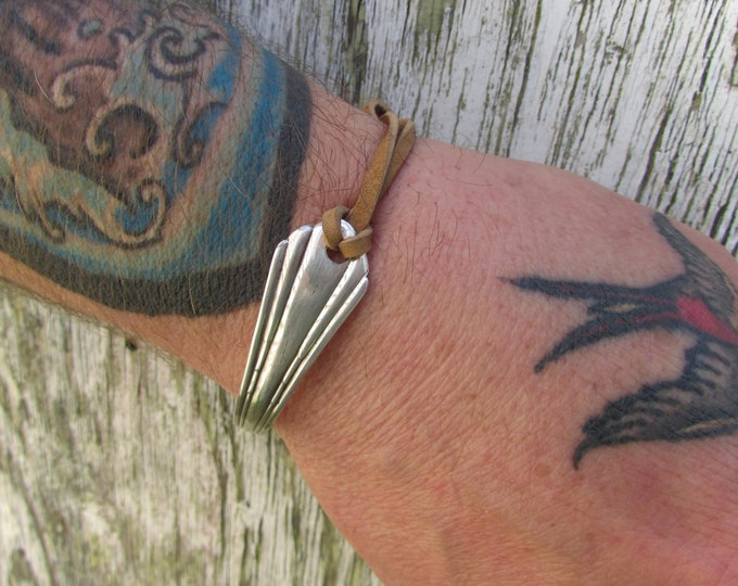 Antique silver spoon is loved again. Adjustable silverware cuff.