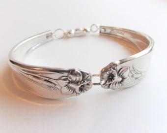 Spoon Bracelet, -Daffodil- pattern Silver spoon Jewelry,  Size's 6-8.5.