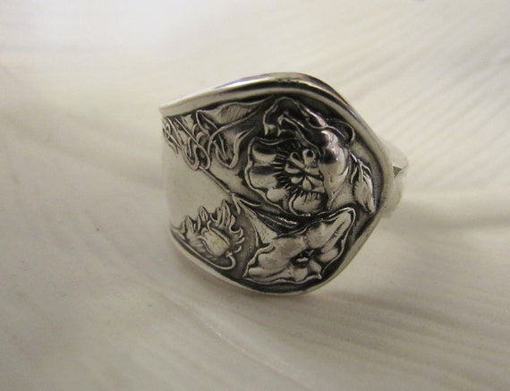 Wildwood Art Nouveau Spoon Ring Floral Spoon Ring Made From Etsy