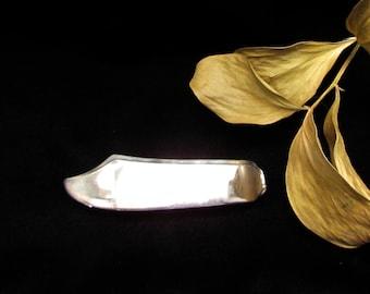 Barrette.Silver spoon barrette. Silverware Jewelry, barrette made from vintage silver master butter knife blade. Ninja hair clip