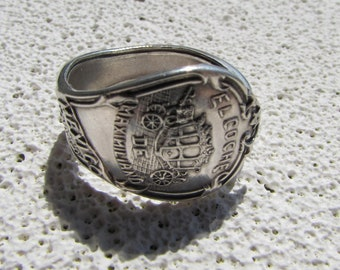 Sterling Mexico spoon ring.