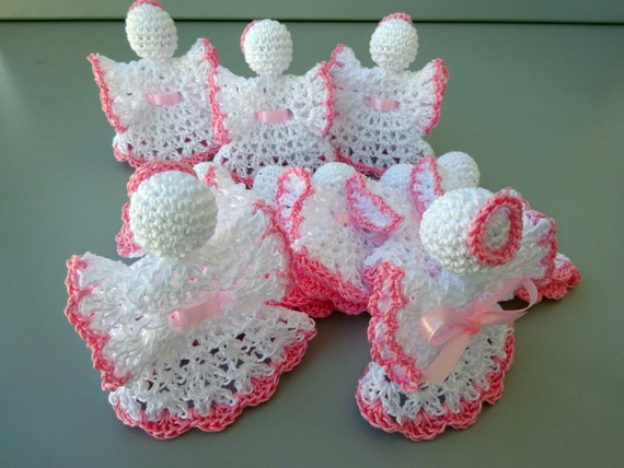 Angel Christening Favor In Crochet Wedding Favors Baby Etsy