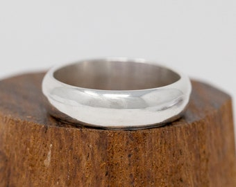 Classic Wedding Band|Sterling Silver Wedding Band|Sterling Silver Unisex Ring|Sterling Silver Mens Plain Ring|Sterling Silver Thumb Ring