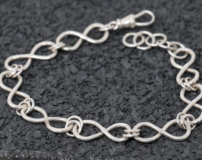 Sterling Silver Bracelet|Sterling Silver Infinity Bracelet|Infinity Knot Bracelet|Handmade Bracelet|Infinity Link Bracelet|Gift for Her