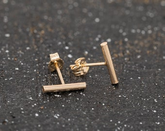 14K Gold Filled Bar Stud Earrings|Thick Gold Staple Earrings|Gold Filled Stick Studs|Gold Bar Earrings|Gold Stick Earrings|Gold Minimalist