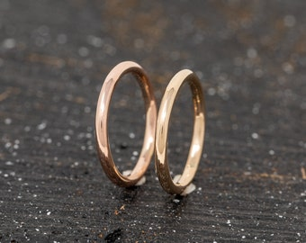 One SOLID 9ct Gold Ring|2MM Gold Wedding Ring|Gold Wedding Ring|Yellow Gold Wedding Band|Rose Gold Wedding Ring|Wedding Band|Unisex Ring