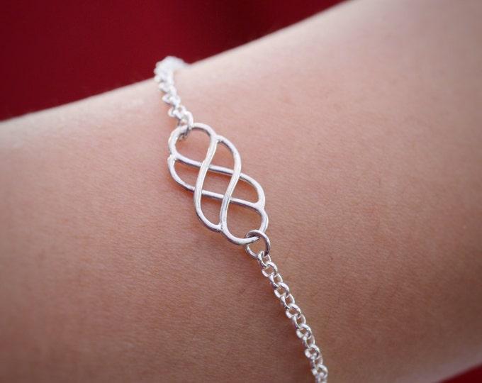 Sterling Silver Infinity Knot Bracelet|Silver infinity Knot Bracelet|Infinity Knot Bracelet|Infinity Bracelet|Silver Celtic Bracelet|Celtic