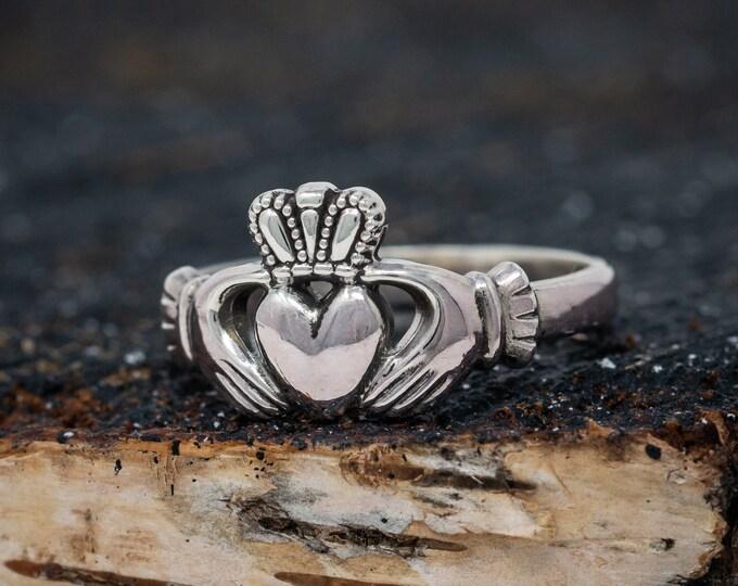 Sterling Silver Irish Wedding Band|Claddagh Ring|Maids Claddagh Ring|Irish Wedding Ring|Traditional Irish Ring|Wedding Band|Engagement Ring