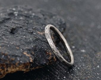 Sterling Silver Rustic Stacking Ring|Embossed Ring|Handmade Ring|Unisex Ring|Hand hammered Ring| Stacking Ring|Stackable ring|Gift for Her