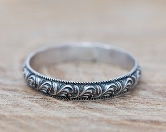 Sterling Silver Botanic Ring|Sterling Silver Floral Ring|Sterling Silver Vine Ring|Sterling Oceanic Ring|Unisex Ring|Gift for Her