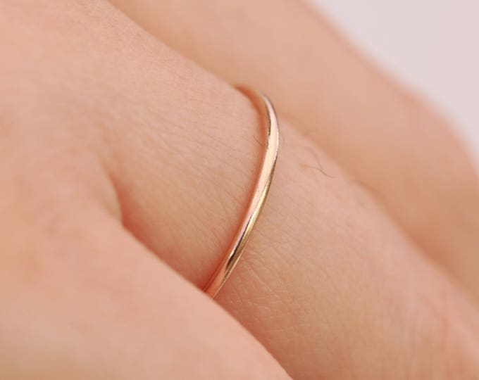 14K Gold Filled Ring|Plain Gold Filled Ring|Thin Gold Ring|Gold Ring|Minimalist Ring|Gold Minimalist Ring|Gold Stacking Ring|Gift for Her