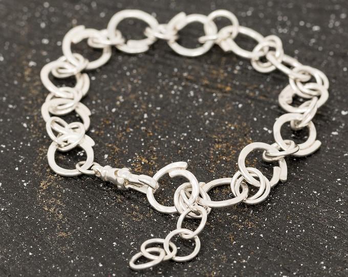 Sterling Silver Bracelet|Sterling Silver Circles of Life Bracelet|Circle Bracelet|Handmade Bracelet|Adjustable|Gift For Mum|Gift for Her