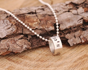 Sterling Silver Coordinates Necklace, Coordinates Necklace, Custom Necklace, Stamped Necklace, Personalised Necklace, Gift for Her