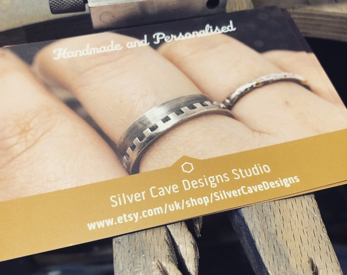 Custom Order for Guy: 9ct rose gold wedding band, 1.5mm wide, dimpled, UK size Q