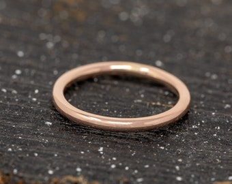 SOLID 9ct Rose Gold Ring|2MM Gold Wedding Ring|Rose Gold Wedding Band|Gold Wedding Band|Rose Gold Wedding Ring|Wedding Band|Gift for Her