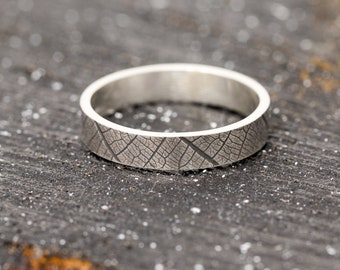 Sterling Silver Ring|Sterling Silver Leaf Ring|Silver Leaf Ring|Sterling Silver Leaf Skeleton Ring|Leaf Ring|Leaf Pattern Ring|Gift for Her