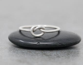Sterling Silver Knot Ring|Silver Love Knot Ring|Silver Knot Ring|Knot Ring|Promise Ring|Friendship Ring|Bridesmaids Ring