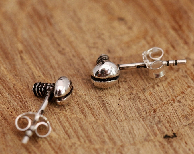 Sterling Silver Bolts Earrings, Sterling Silver Screws Earrings, Silver Bolts Earrings, Blots Earrings, Bolts Studs, Bolt Stud Earrings