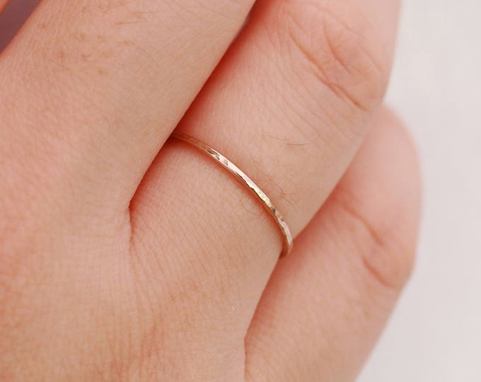 One 14K Gold Filled Ring Gold Midi Ring Gold Filled Ring Thin Gold Ring Gold Minimalist Ring Minimalist Ring Gold Stacking Ring Gift for Her