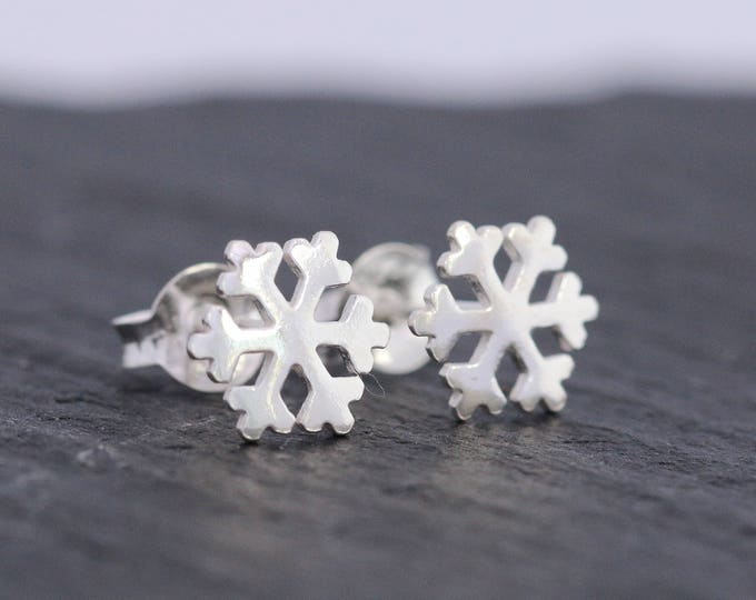 Sterling Silver Snowflake Earrings|Snowflake Earrings|Sterling Silver Earrings|Silver Snowflake Studs|Winter Earrings|Christmas Earrings