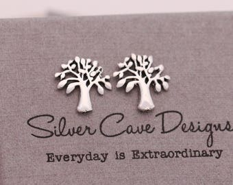 Sterling Silver Tree of Life Earrings|Tree of Life Earrings|Silver Tree of Life Earrings|Silver Tree Earrings|Tree Earrings|Gift for Her