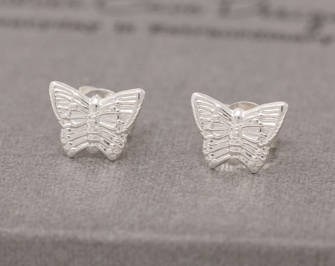 Sterling silver butterfly earrings|silver butterfly earrings|butterfly earrings|butterfly stud earrings|butterfly studs|gift for her