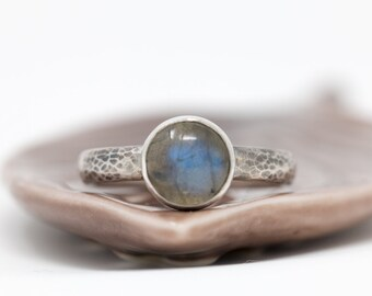 Sterling Silver n Labradorite Ring| Labradorite Ring|Gemstone Ring|Labradorite Cabochon Ring|Natural Gem Ring|Gift for Her|Gift for Mother