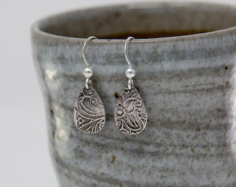 Sterling Silver Dangle Earrings|Sterling Silver Drop Earrings|Teardrop Earrings|Pear Shape Earrings|Lantern Earrings|Gift or Mothers