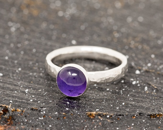Sterling Silver n Amethyst Ring|Amethyst Ring|Silver Amethyst Ring|February Birthstone Ring|February Birthstone|Gift for Her|Gift for Mother