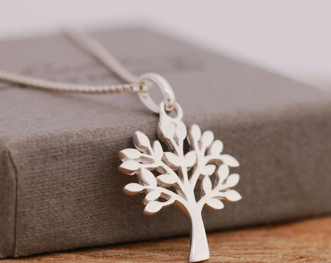 Sterling Silver Tree of Life Necklace, Tree Silhouette Necklace, Silver Tree Necklace, Silver Tree Necklace, Tree Jewellery, Gift for Her
