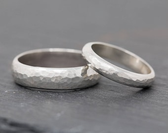 Sterling Silver Wedding Bands.Sterling Silver Wedding Ring Setsterling Silver Wedding Band Etsy