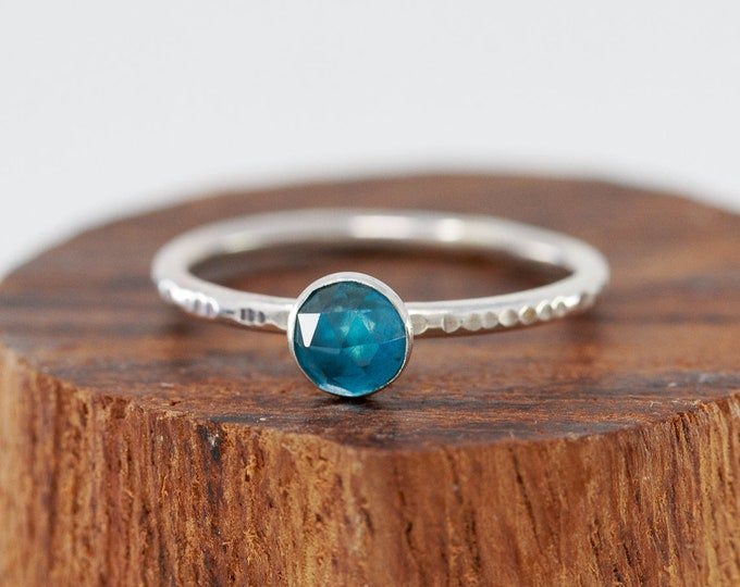 Sterling Silver& Blue Topaz Ring| Topaz Ring|Swiss Blue Topaz Ring|November Birthstone Ring|Blue Topaz Ring|Birthstone Gift|Gift for Her